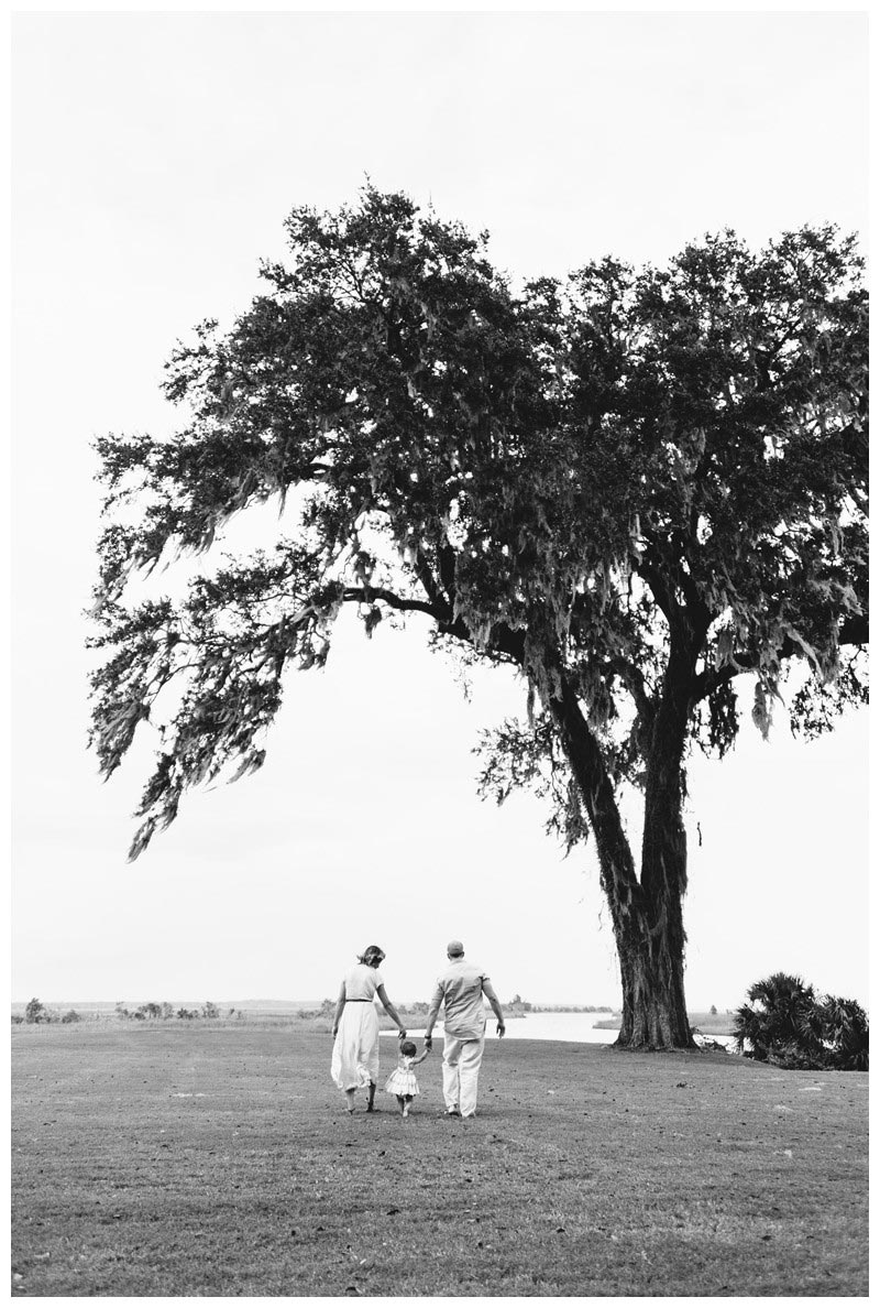 Family walking on the lawn at the Ford Plantation. Ford Plantation Family Photos in Savannah, Georgia. Photographed by Kristen M. Brown, Samba to the Sea Photography.