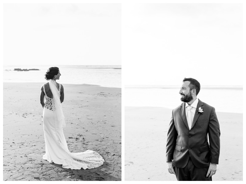 Bride + groom portraits. Tamarindo wedding at Casa Compass in Costa Rica. Photographed by Kristen M. Brown, Samba to the Sea Photography.