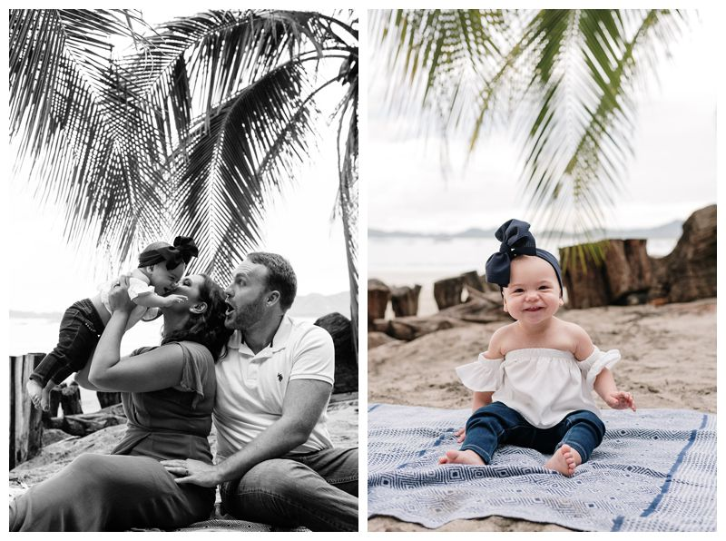 Beach family photos in Tamarindo Costa Rica. Photographed by Kristen M. Brown, Samba to the Sea Photography.