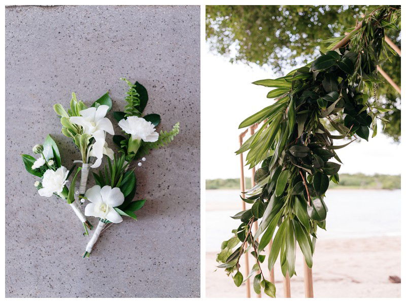 Destination tropical wedding in Tamarindo, Costa Rica. Photographed by Kristen M. Brown, Samba to the Sea Photography.