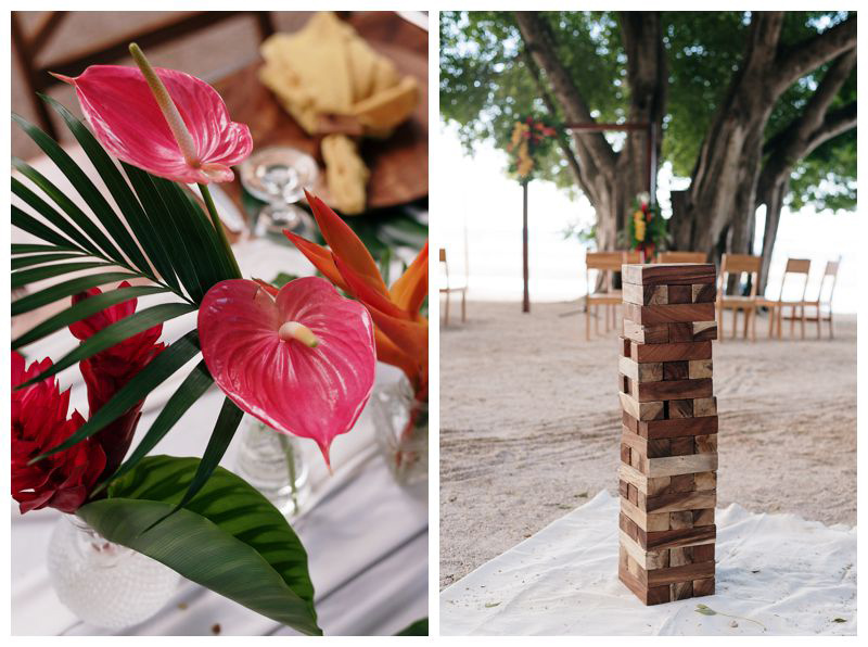 Tropical intimate destination beach wedding in Tamarindo Costa Rica. Photographed by Kristen M. Brown, Samba to the Sea Photography.