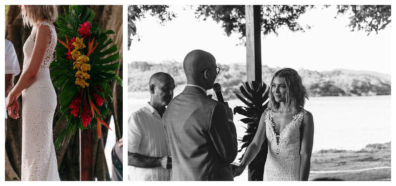 Intimate destination beach wedding in Tamarindo Costa Rica. Photographed by Kristen M. Brown, Samba to the Sea Photography.