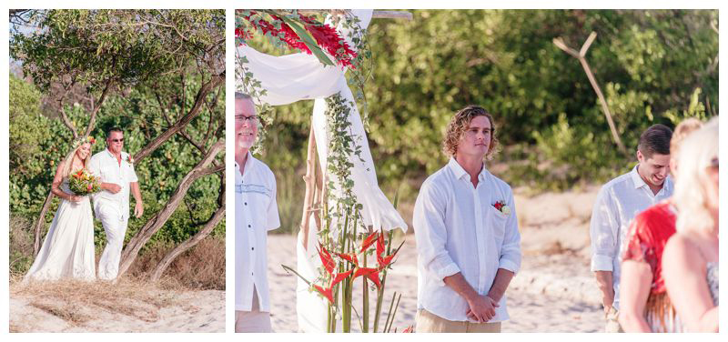Intimate destination wedding at Lagarta Lodge in Playa Pelada Costa Rica. Photographed by Kristen M. Brown, Samba to the Sea Photography.