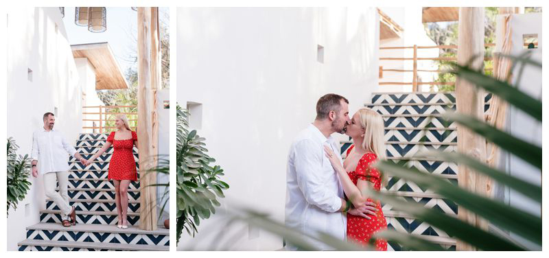 The Nomadic Hotel in Nosara. Playa Guiones Costa Rica engagement photos. Photographed by Kristen M. Brown, Samba to the Sea Photography.