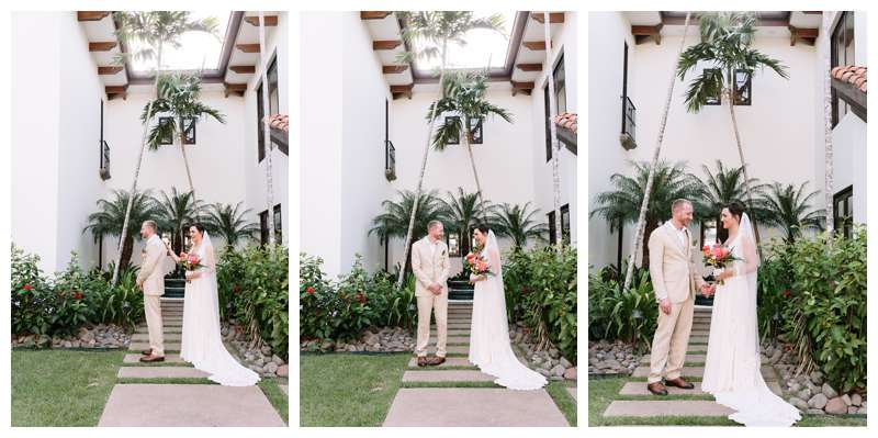 Intimate beach wedding in Costa Rica at Casa Mar Azul in Hacienda Pinilla. Photographed by Kristen M. Brown, Samba to the Sea Photography.