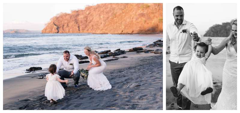 Intimate wedding in Playa Ocotal Costa Rica. Photographed by Kristen M. Brown, Samba to the Sea Photography.