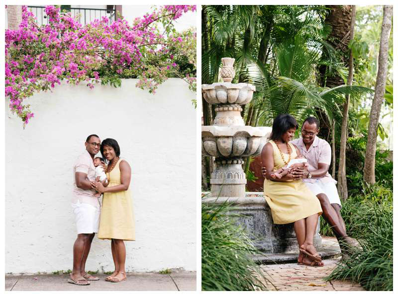 Baby's first photos in Coral Gables, FL. Photographed by Kristen M. Brown, Samba to the Sea Photography.