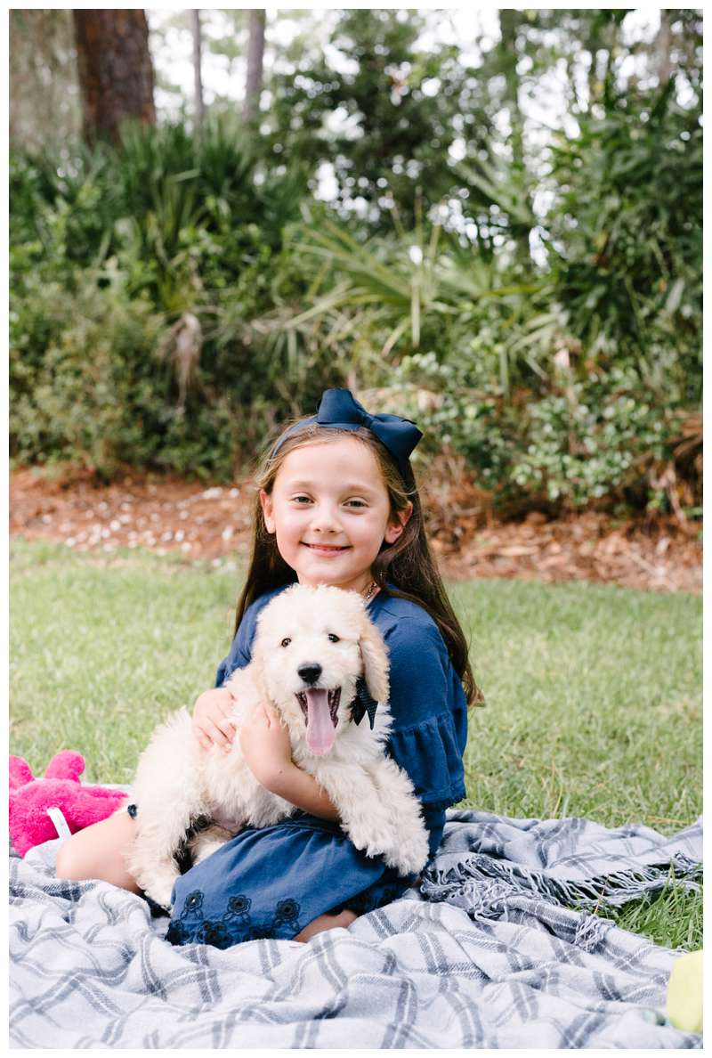 New puppy family photos in Savannah at The Landings. Photographed by Kristen M. Brown of Samba to the Sea Photography.