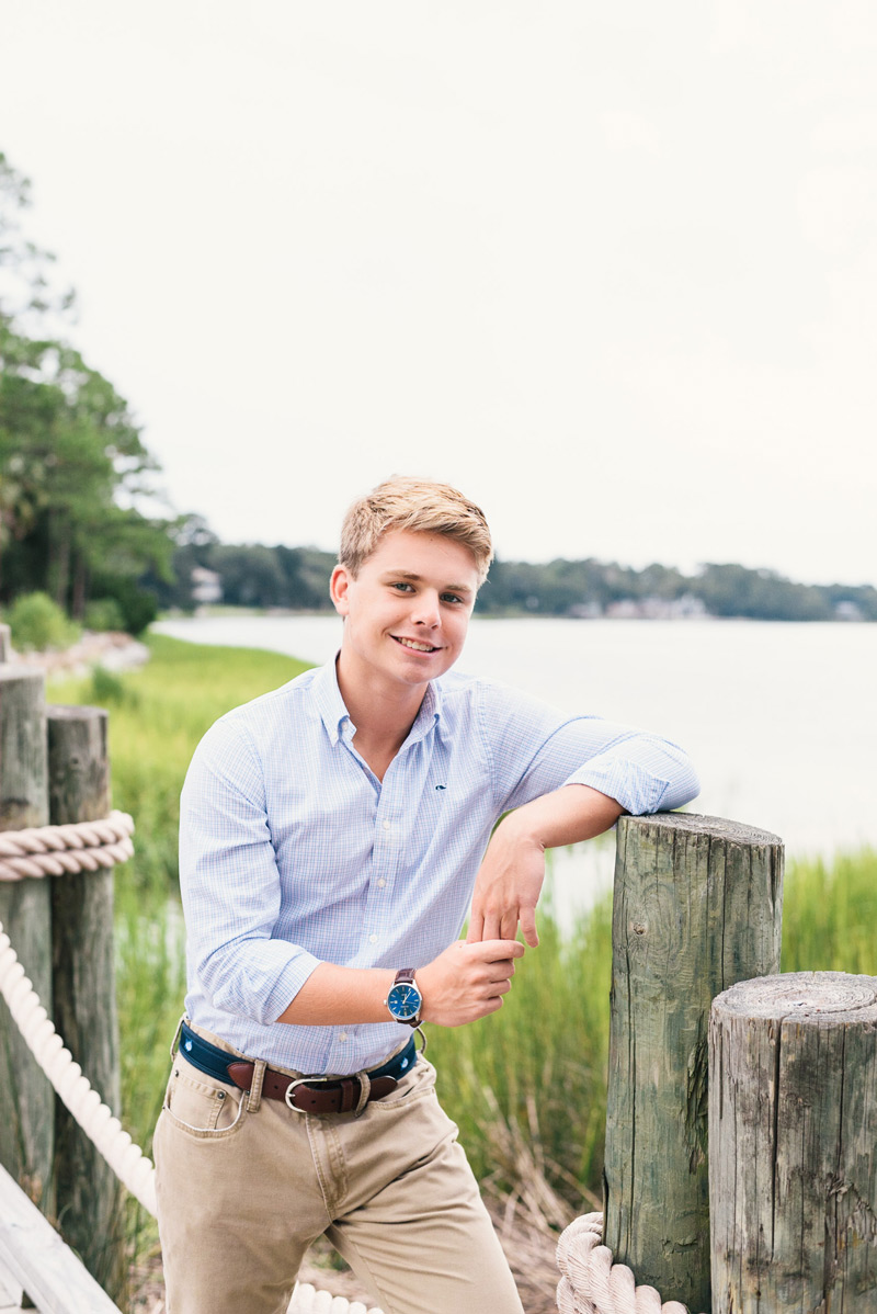 Senior photos at The Landings in Savannah, GA. Photographed by Kristen M. Brown of Samba to the Sea Photography.