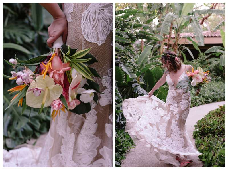 Too by Watters wedding dress. Vow renewal in Tamarindo Costa Rica. Photographed by Kristen M. Brown of Samba to the Sea Photography.