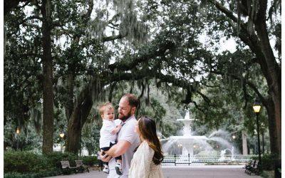 Downtown Savannah Georgia Family Photos    Hankins Family