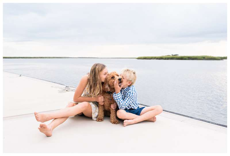 Boat family photos in Savannah Georgia at The Landings on Skidaway Island. Photographed by Kristen M. Brown of Samba to the Sea Photography.