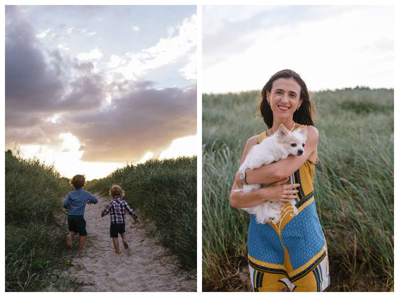 Sunset family photos in Sebastian Inlet Florida. Photographed by Kristen M. Brown of Samba to the Sea Photography.