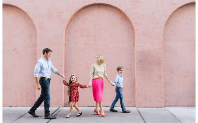 Holiday Family Photos in Downtown Savannah || Cohen Family