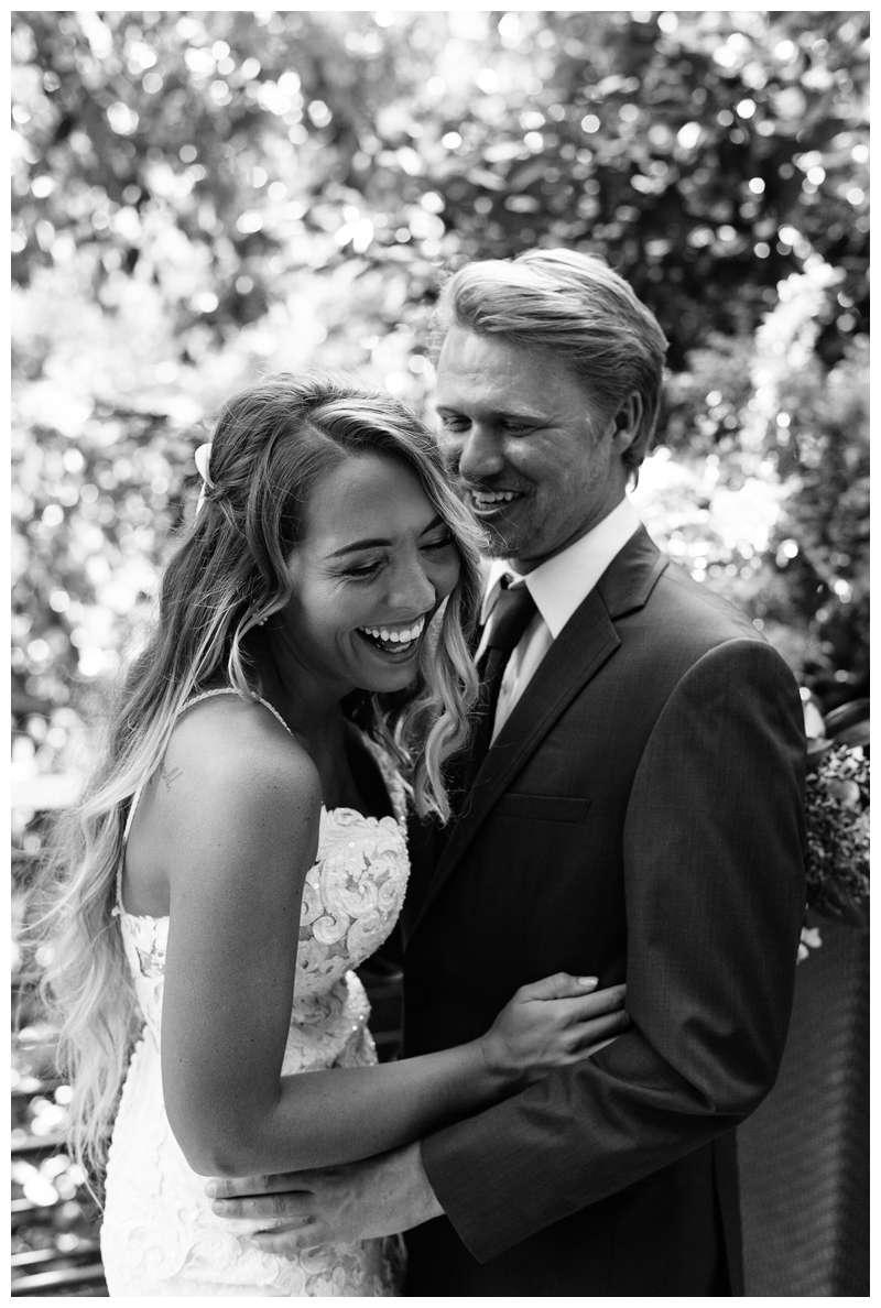 Bride and groom laughing after their destination wedding in Manuel Antonio Costa Rica at Villa Punto de Vista.