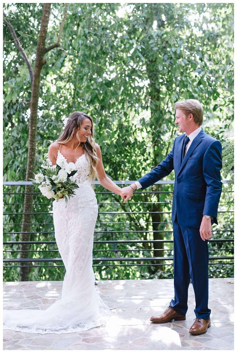 Bride and groom dancing after their destination wedding in Manuel Antonio Costa Rica at Villa Punto de Vista.