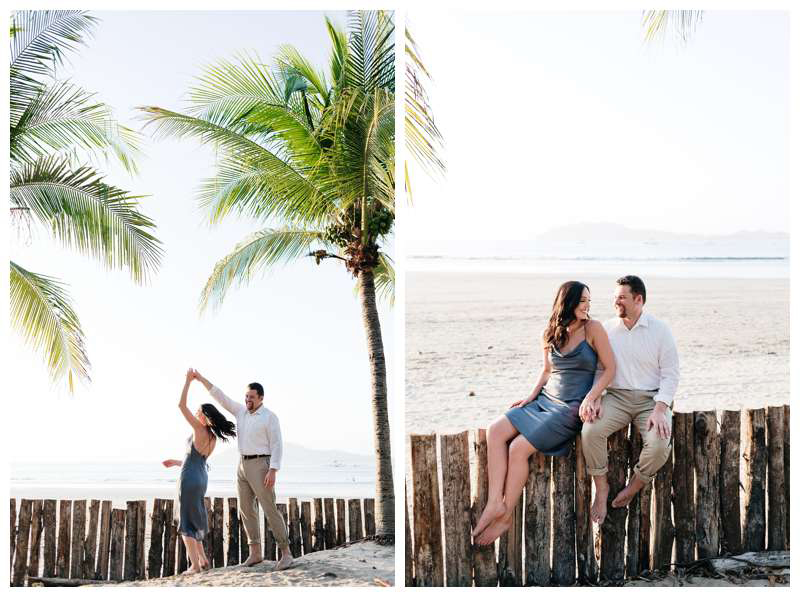 Engagement photos in Tamarindo Beach Costa Rica. Photographed by Kristen M. Brown of Samba to the Sea.