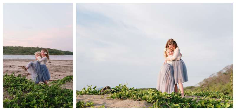 Family elopement in Tamarindo Costa Rica. Photographed by Kristen M. Brown of Samba to the Sea.