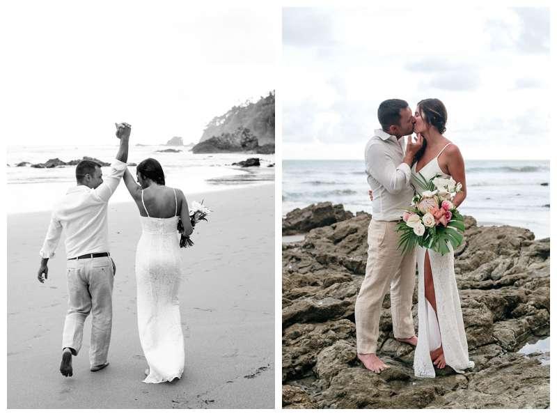 Intimate destination wedding in Manuel Antonio Costa Rica at Casa Diamante.