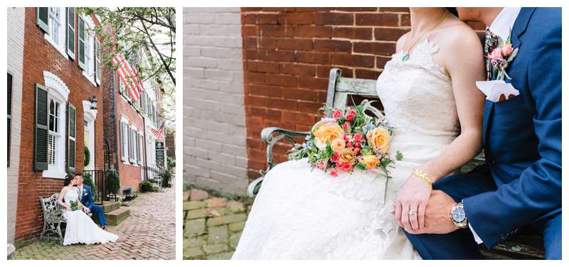 Intimate historic Alexandria Virgina spring wedding. Photographed by Kristen M. Brown of Samba to the Sea.
