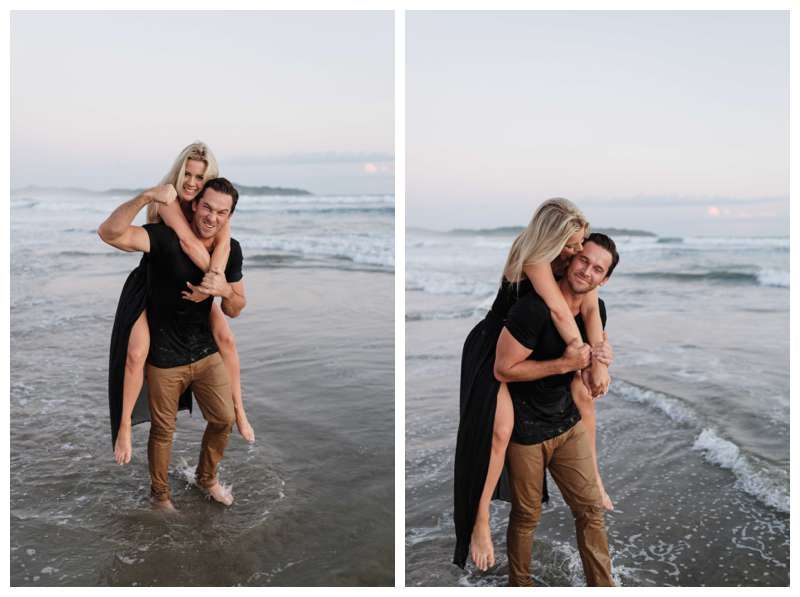 Engagement photos on the beach in Playa Guiones Nosara Costa Rica. Photographed by Kristen M. Brown of Samba to the Sea.