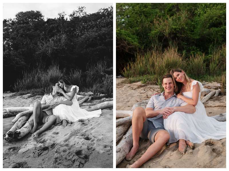 Beach maternity photos in Playa Grande Costa Rica.  Photographed by Kristen M. Brown of Samba to the Sea Photography.