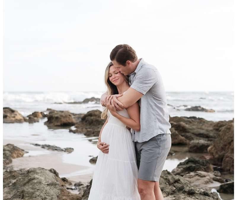 Beach Maternity Photos in Playa Grande Costa Rica || Jamie + Peter