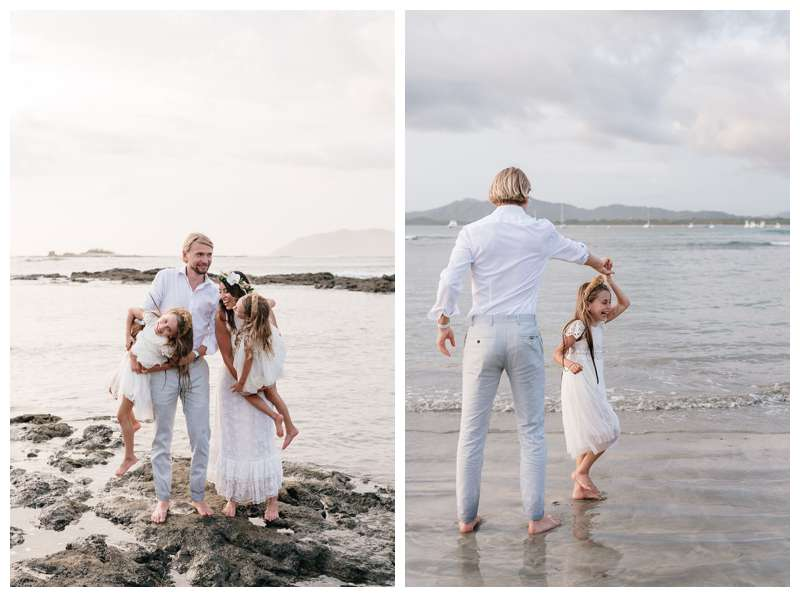 Beach vow renewal in Tamarindo Costa Rica. Photographed by Kristen M. Brown of Samba to the Sea.